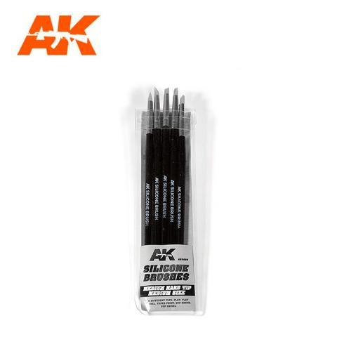 Silicone Brushes Medium Hard Medium Tip