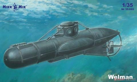 Welman (W10) One Man British Midget Submarine  1/35