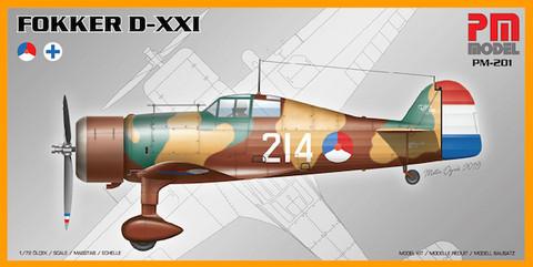 Fokker D-XXI with wheels  1/72