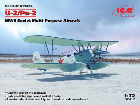 Polikarpov U-2/Po-2 WWII Soviet Multipurpose Aircraft  1/72