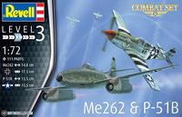 Messerschmitt Me-262 & North-American P-51B Mustang  1/72