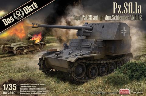 Pz.Sfl. Ia-5cm PaK 38 auf gp. Mun Schlepper  1/35