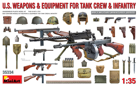 US Weapons & Equipment for Tank Crew & Infantry  1/35