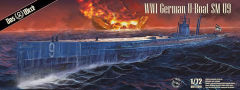 German WWI U-Boat U-9  1/72