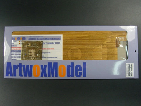 Wooden Deck & Etched Parts for Trumpeter Bismarck  1/200