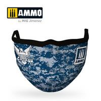 Ammo Navy Blue Camo Face Mask