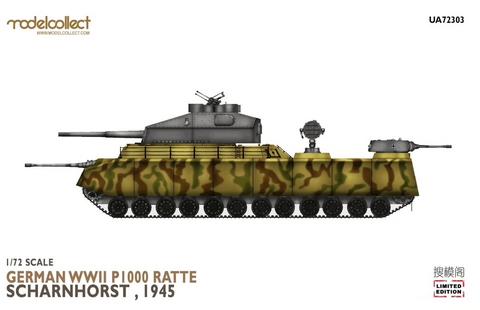 P1000 Ratte Scharnhorst 1945  1/72