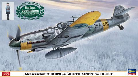 Messerschmitt Bf109 G-6 with Ilmari Juutilainen resin figure  1/48