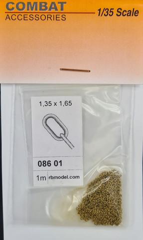 Messinkiketju 1 lenkki 1,35x1,65mm (Pakkauksessa 1m)