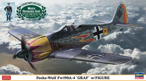 Focke Wulf Fw190A-4 with Resin Figure Hermann Graf  1/48