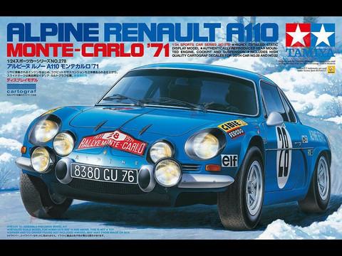 Alpine Renault A110, Monte Carlo '71  1/24