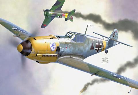 """Messerschmitt Bf 109E-7/B """"Schalacht Emils""""  1/72"""