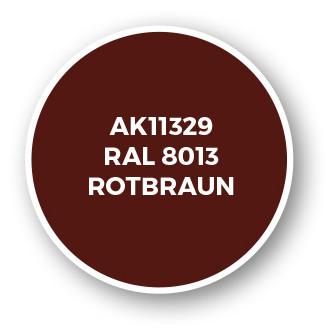 RAL 8013 Rotbraun