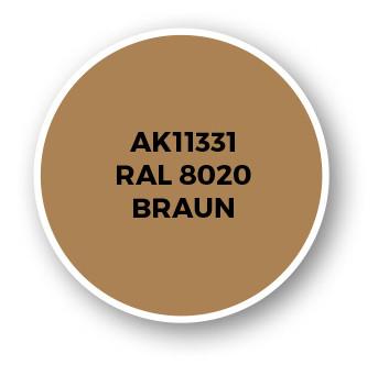 RAL 8020 Braun