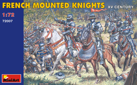 French Knights with Assault Ladders XV Century  1/72