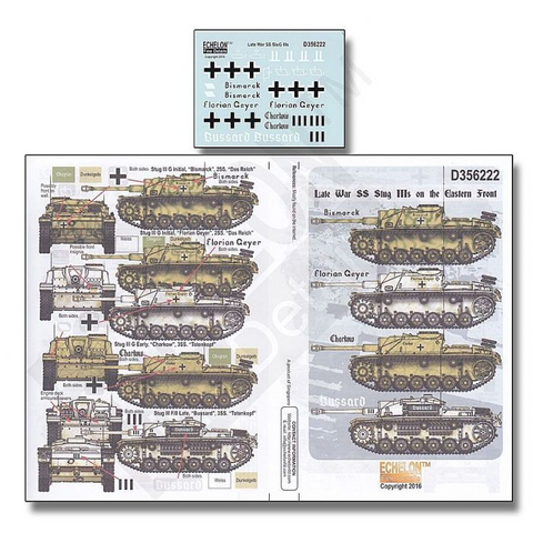 Late War SS StuG IIIs on the Eastern Front