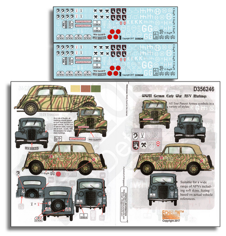 German Early War AFV Markings  1/35