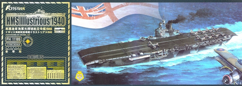 HMS Illustrious 1940 Deluxe Edition  1/700