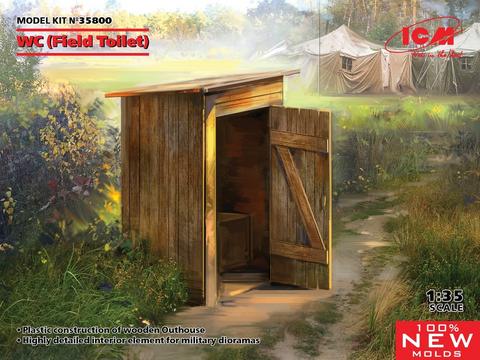 Field Toilet (Wanhan ajan ulkohuussi)  1/35