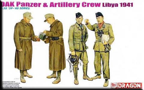 DAK Panzer & Artillery Crew Libya 1941  1/35