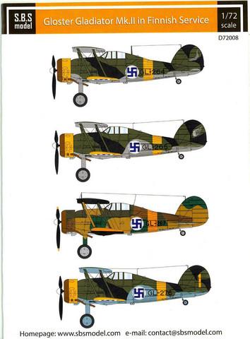 Gloster Gladiator Mk.II in Finnish Service  1/72