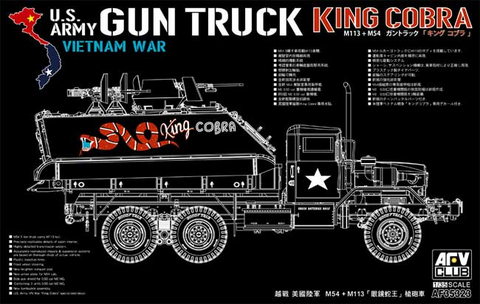 """US Vietnam War Gun Truck """"King Cobra""""  1/35"""