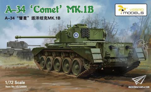 Cruiser Tank A-34 Comet Mk.IB  1/72