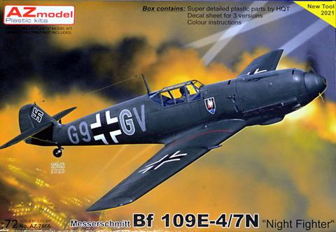 Messerschmitt Bf109 E-4/7N Night Fighter  1/72