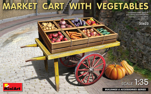Market Cart with Vegetables  1/35