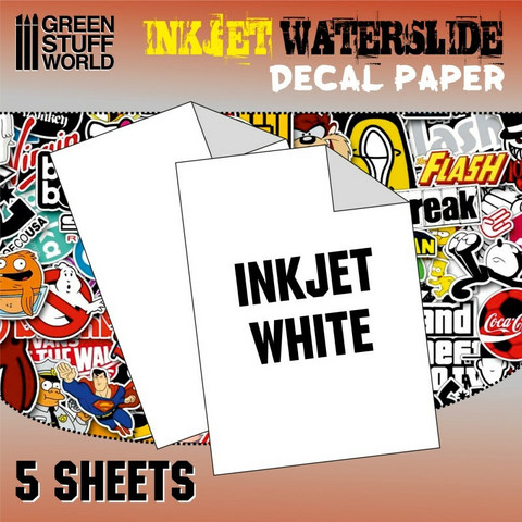Waterslide Decal Paper A4 White (Inkjet) 5 sheets