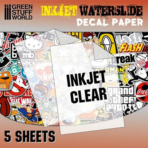 Waterslide Decal Paper A4 Clear (Inkjet) 5 sheets