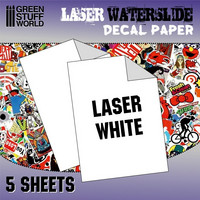 Waterslide Decal Paper A4 White (Laser) 5 sheets
