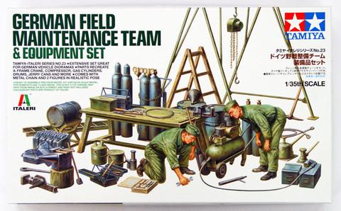 German Field Maintenance Team & Equipment Set  1/35