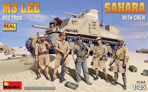 M3 Lee Middle Production Sahara with Crew  1/35