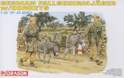 German Fallschirmjäger with Donkeys  1/35