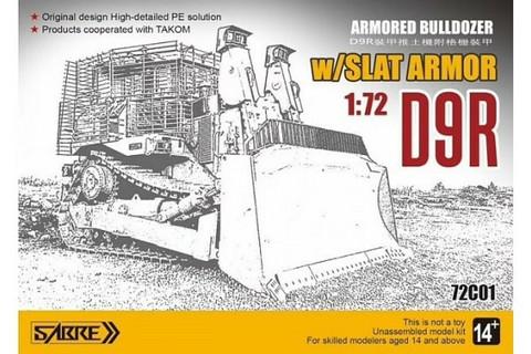 Caterpillar D9r Bulldozer with Slat Armor   1/72