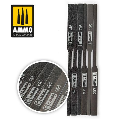 Tapered Sanding Stick (6kpl karkeudet 120,240,320,1200,1500)