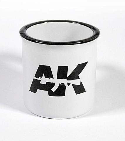 Mallarin kahvimuki AK (Valkoinen kuppi/musta logo) 290ml