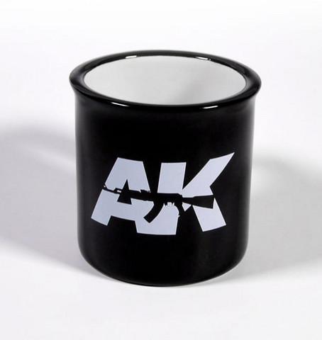 Mallarin kahvimuki AK (Musta kuppi/valkoinen logo)290ml