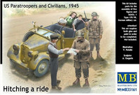 Hitching a Ride, US paratroopers and Civilians 1945 1/35