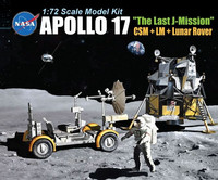 "Apollo 17 ""the Last J-Mission"" CSM + LM + Lunar Rover 1/72"
