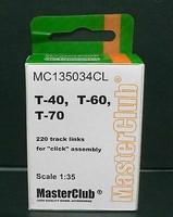 Tracks for T-40 / T-60 / T-70 1/35 Resin tracks