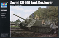 SU-100 Soviet Tank Destroyer 1/16