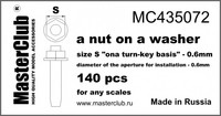 """A nut on A washer, Size S """"on A Turn-Key basis"""" - 0.6mm"""