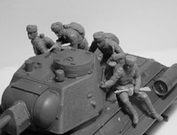 Soviet Tank Riders 1943-1945 (New Molds) 1/35