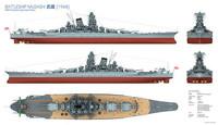 MUSASHI Japanese Battle Ship 1/350