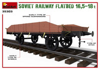 Soviet Railway Flatbed 16,5-18t 1/35