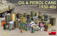 Oil & Petrol Cans 1930-40s 1/35