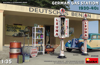 German Gas Station 1930-40s  1/35