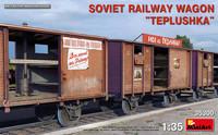 "Soviet Railway Wagon ""Teplushka""  1/35"
